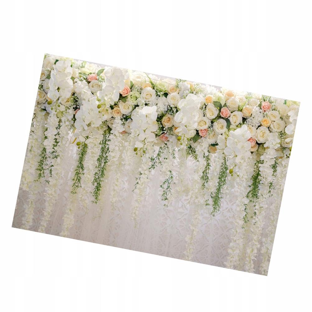 Kolorowe Wiszące Kwiaty Fotografia Tło Ślub Tkanin