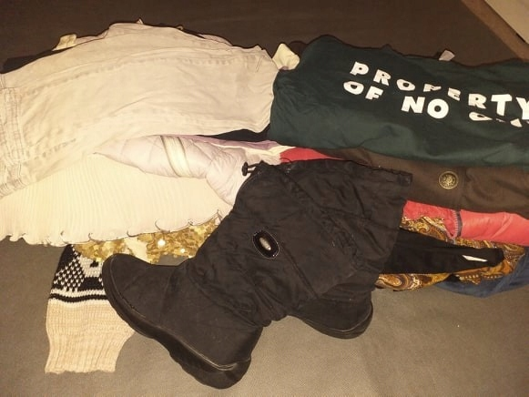 MEGA PAKA NOWE kurtki płaszcz śniegowce spodnie 38