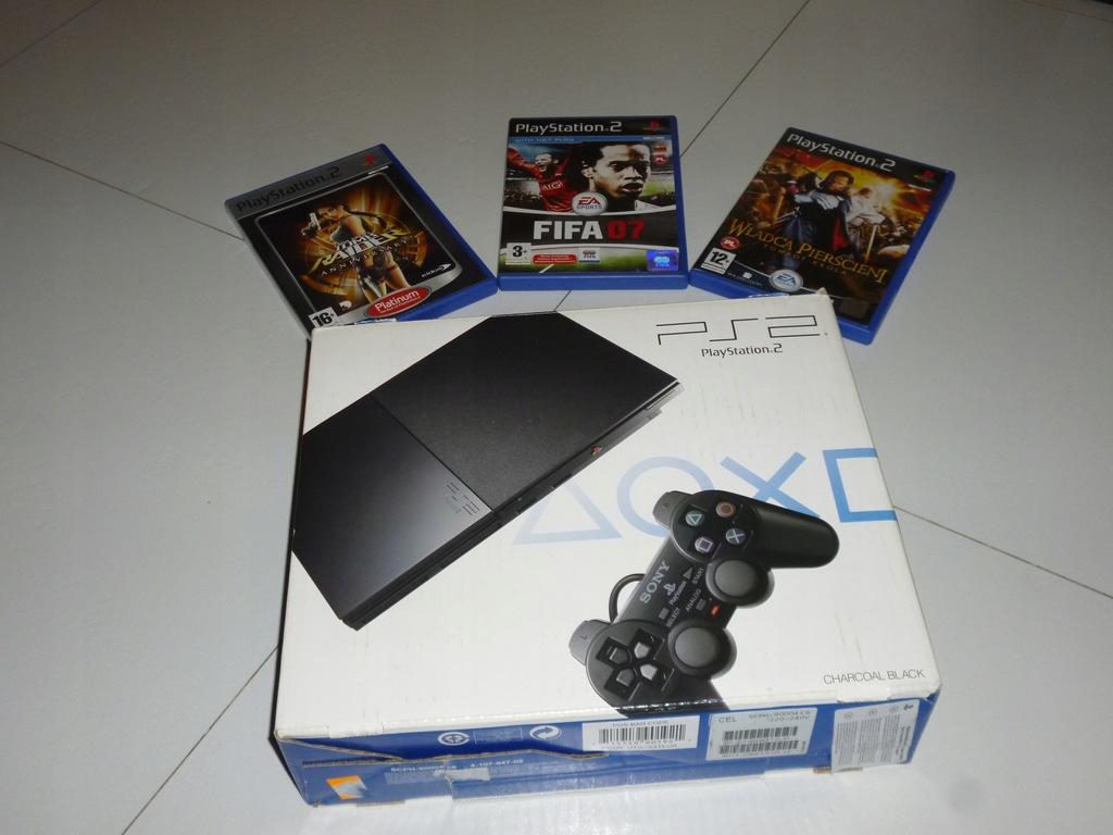 Konsola Sony Playstation 2 90004 jak nowa komplet