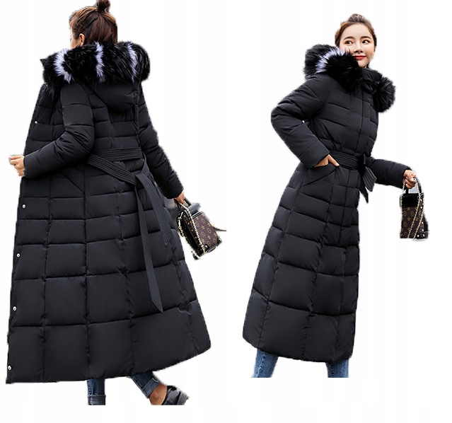 kurtka zimowa młodzieżowa długa