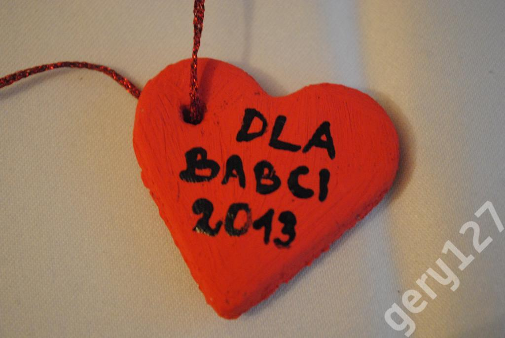SERDUSZKO Z MASY SOLNEJ dla BABCI 2013