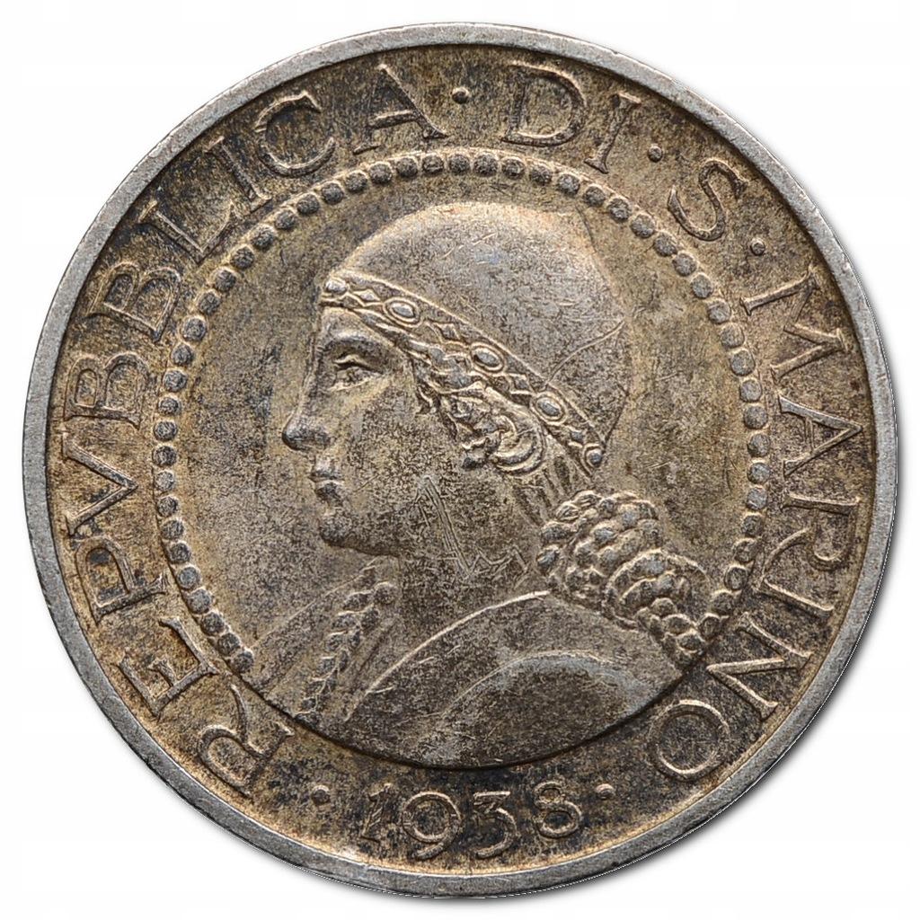 81.SAN MARINO, 5 LIRÓW 1938