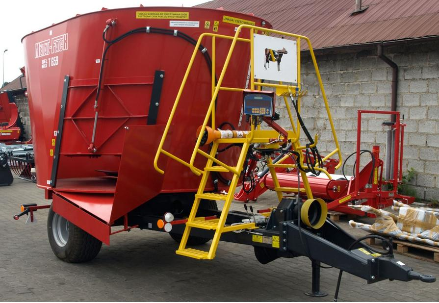Wóz paszowy METAL-FACH T659 BELMIX OPTIMAL 6m3