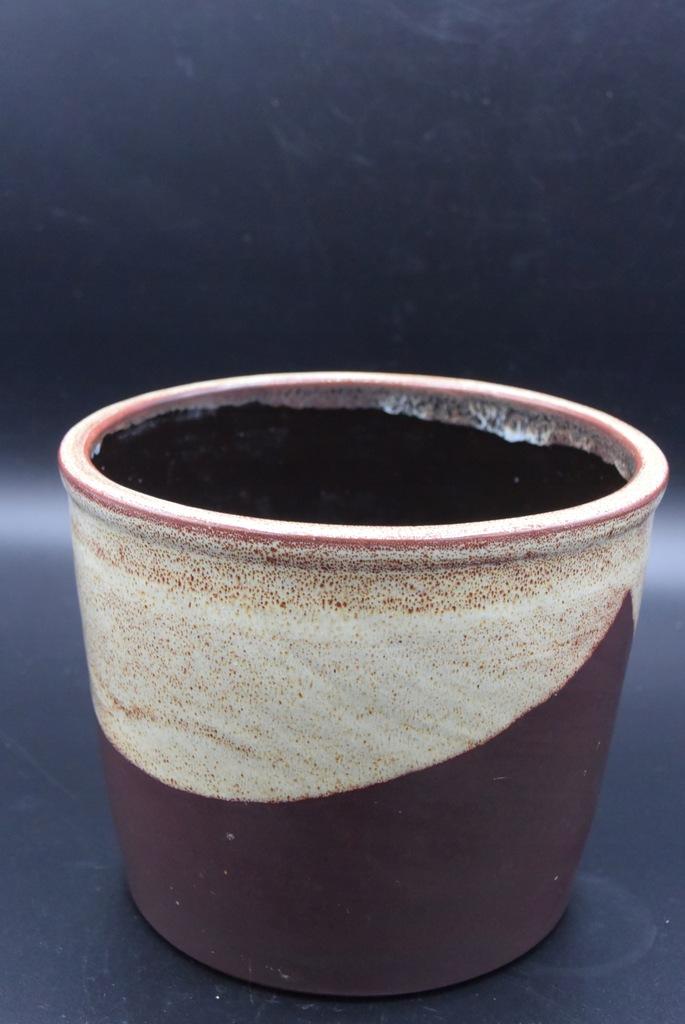 Doniczka ceramiczna 15cm brązowa,