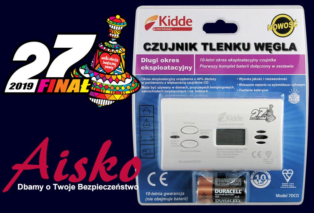 Czujnik Czadu Kidde 7DCO. Edycja limitowana WOŚP.
