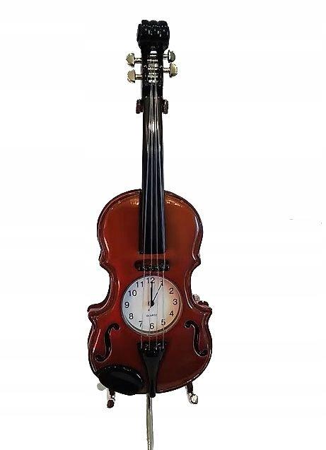Miniatura skrzypiec z zegarkiem Violin ZEBRA Music