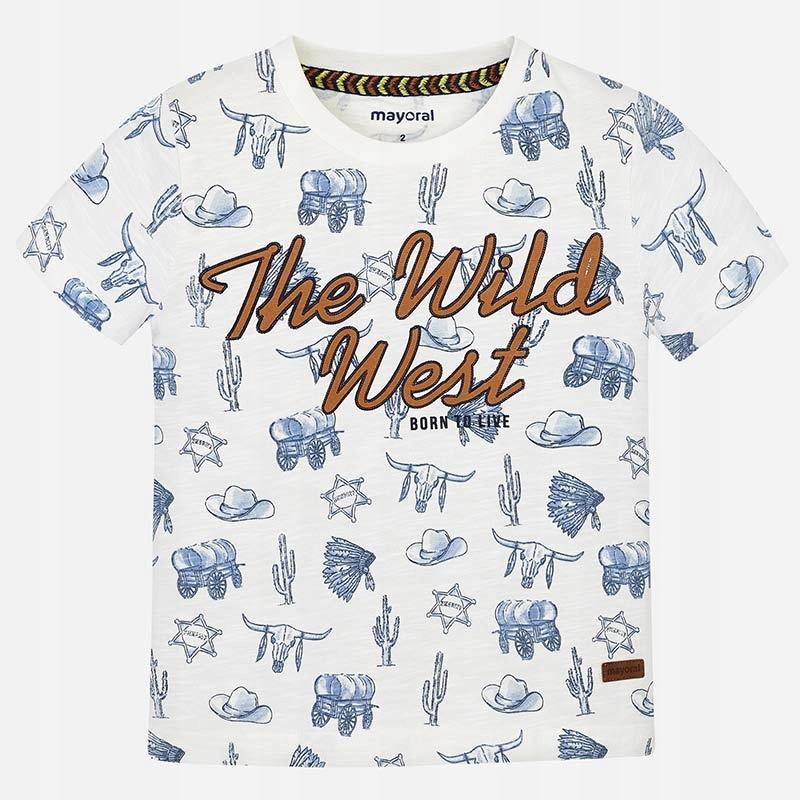 Koszulka krótki rękaw 'wild west' roz. 110 MAYORAL