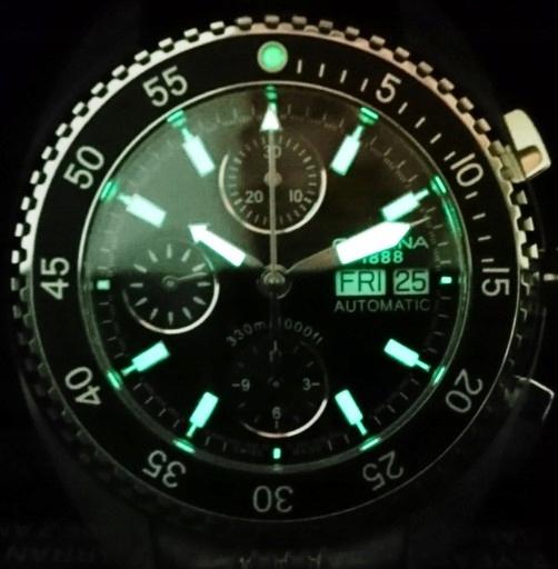 CERTINA DS-3 674.7128.42.6 Valjoux 7750 diver 300m