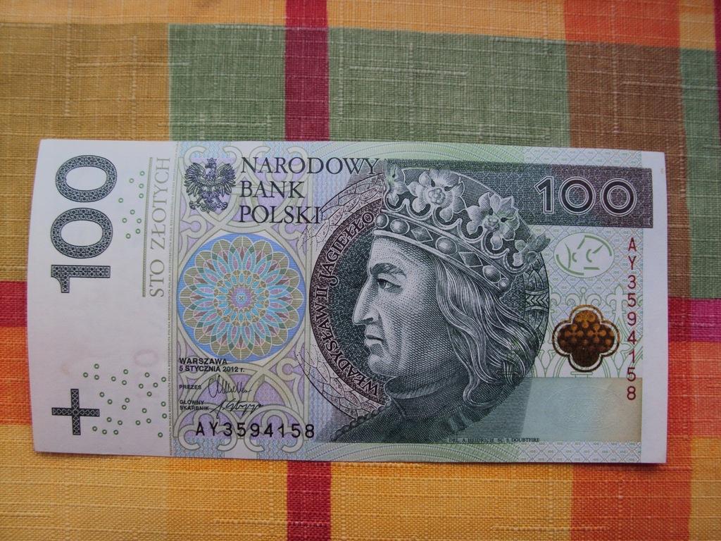 100 zł złotych seria CS 2012 UNC