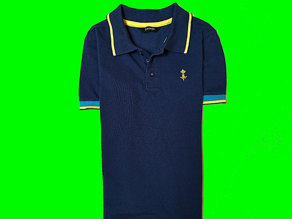 GEORGE KOSZULKA POLO LOGO NA 116/122 CM COTTON