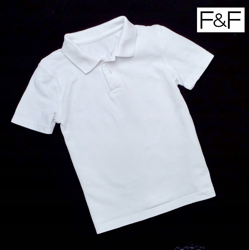 biała bluzka koszula polo rozmiar 140 146