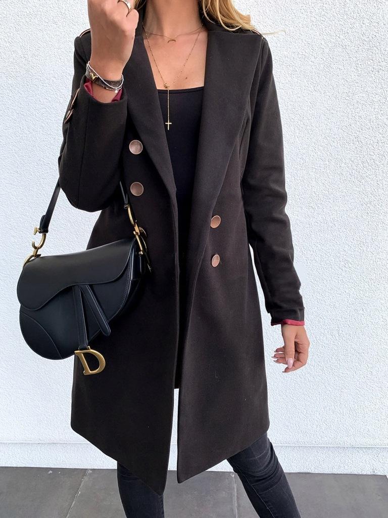 Płaszcz zimowy klasyczny w różnych kolorach