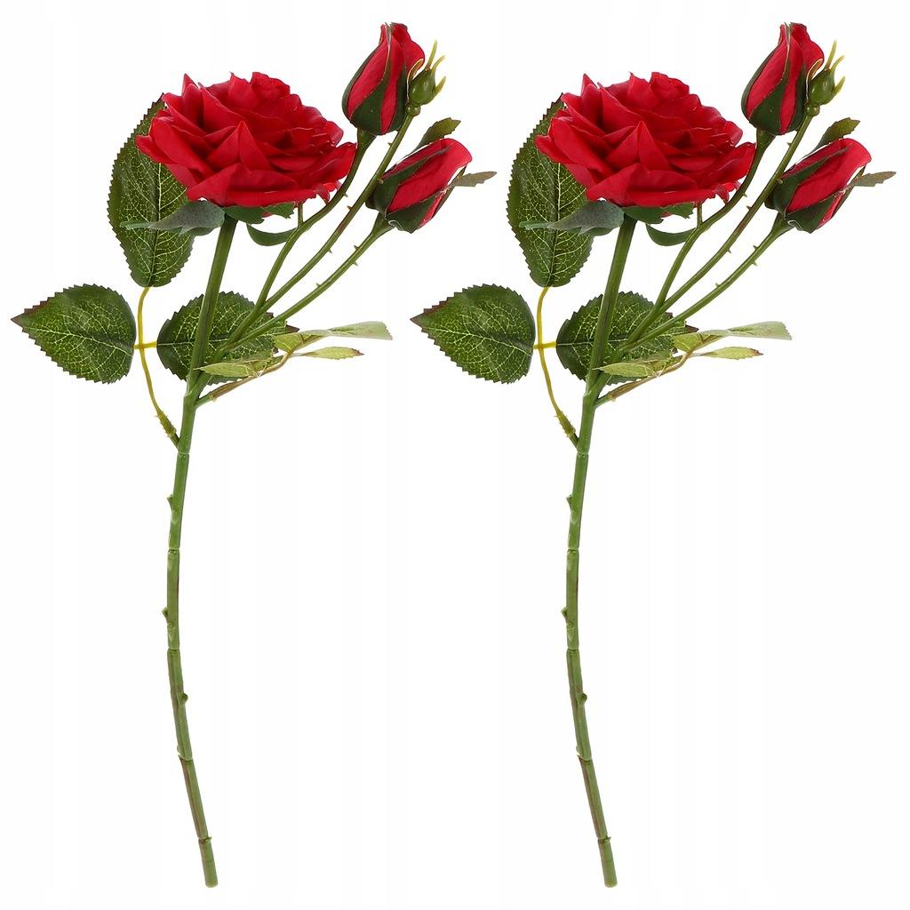 2 sztuk symulacji róż walentynki kwiatowa dekoracj