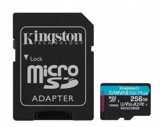 Karta microSD 256GB Canvas Go Plus 170/90MB/s Adap