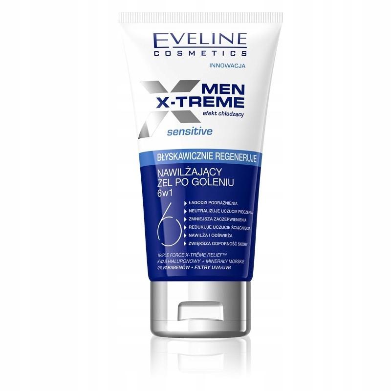 Eveline Men X-Treme 6w1 nawilżający żel po goleniu