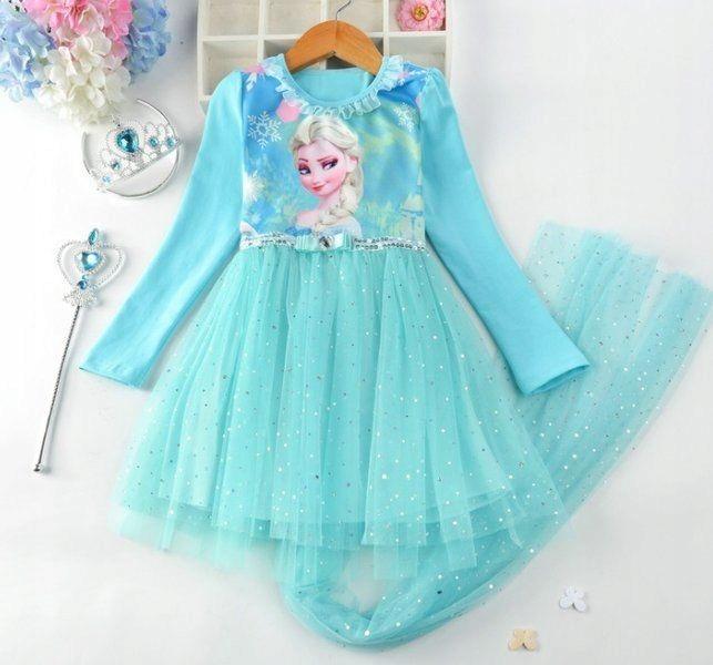 Sukienka z tiulem Frozen Kraina Lodu 130