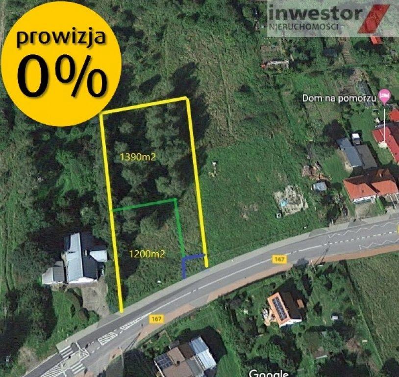Działka na sprzedaż Niedalino, koszaliński, 1240,0