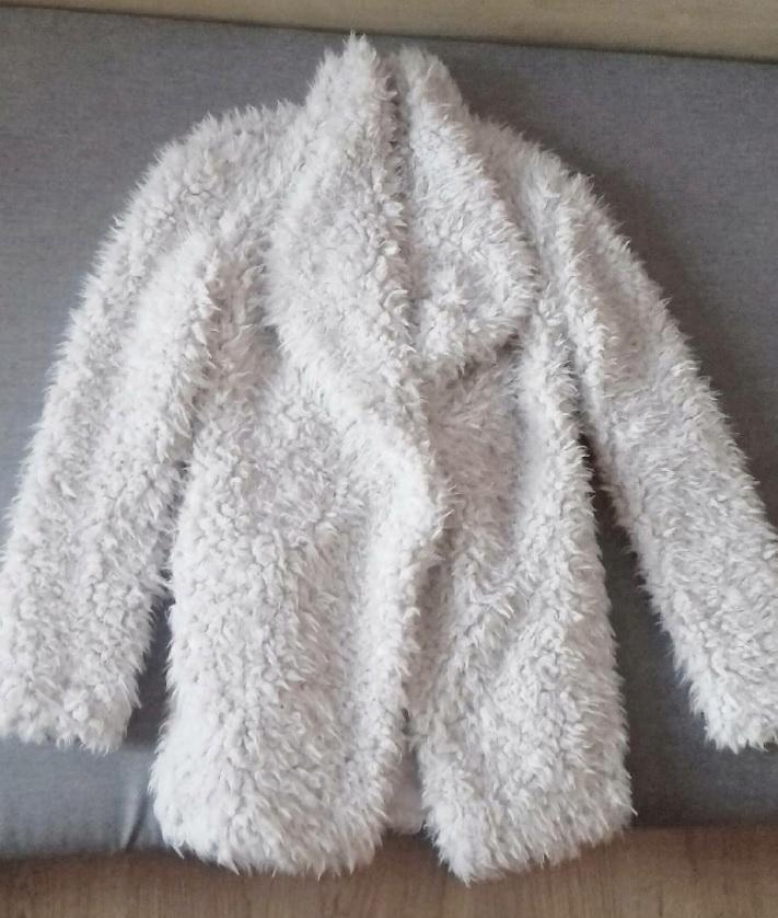 Primark futrzak teddy coat kremowy 36 blog futerko
