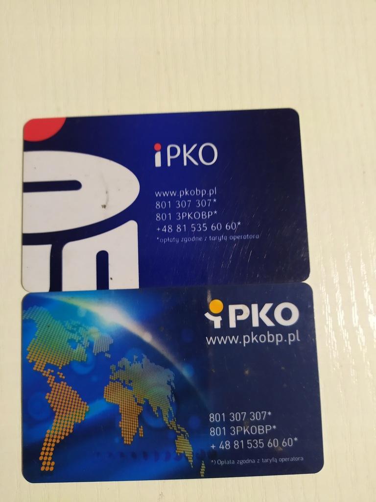 2 karty PKO DLA KOLEKCJONERA