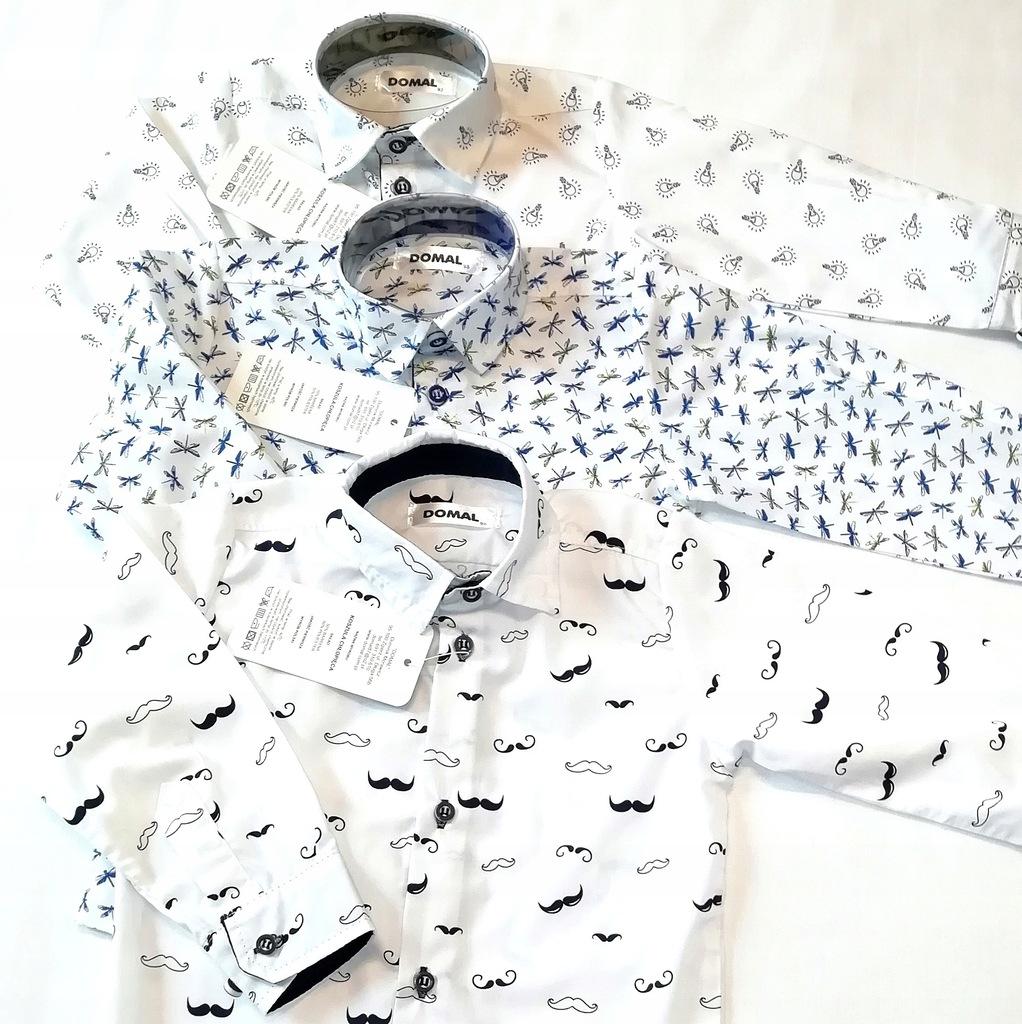 Elegancka koszula chłopięca wzory żarówki 92 8215764506  z4yJ1