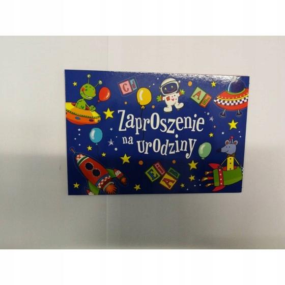 Motyw kosmosu, urodziny, zaproszenie dla każdego
