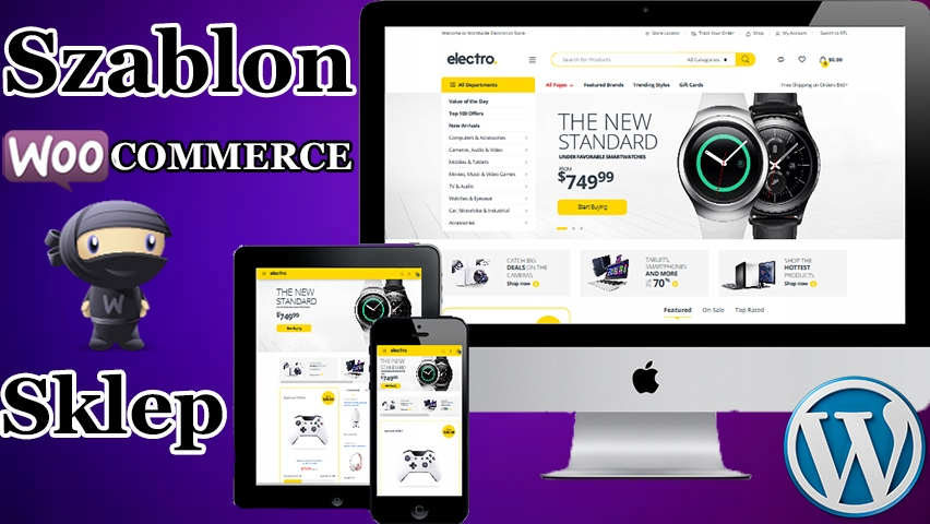 Szablon sklepu WooCommerce Elektronika - WordPress
