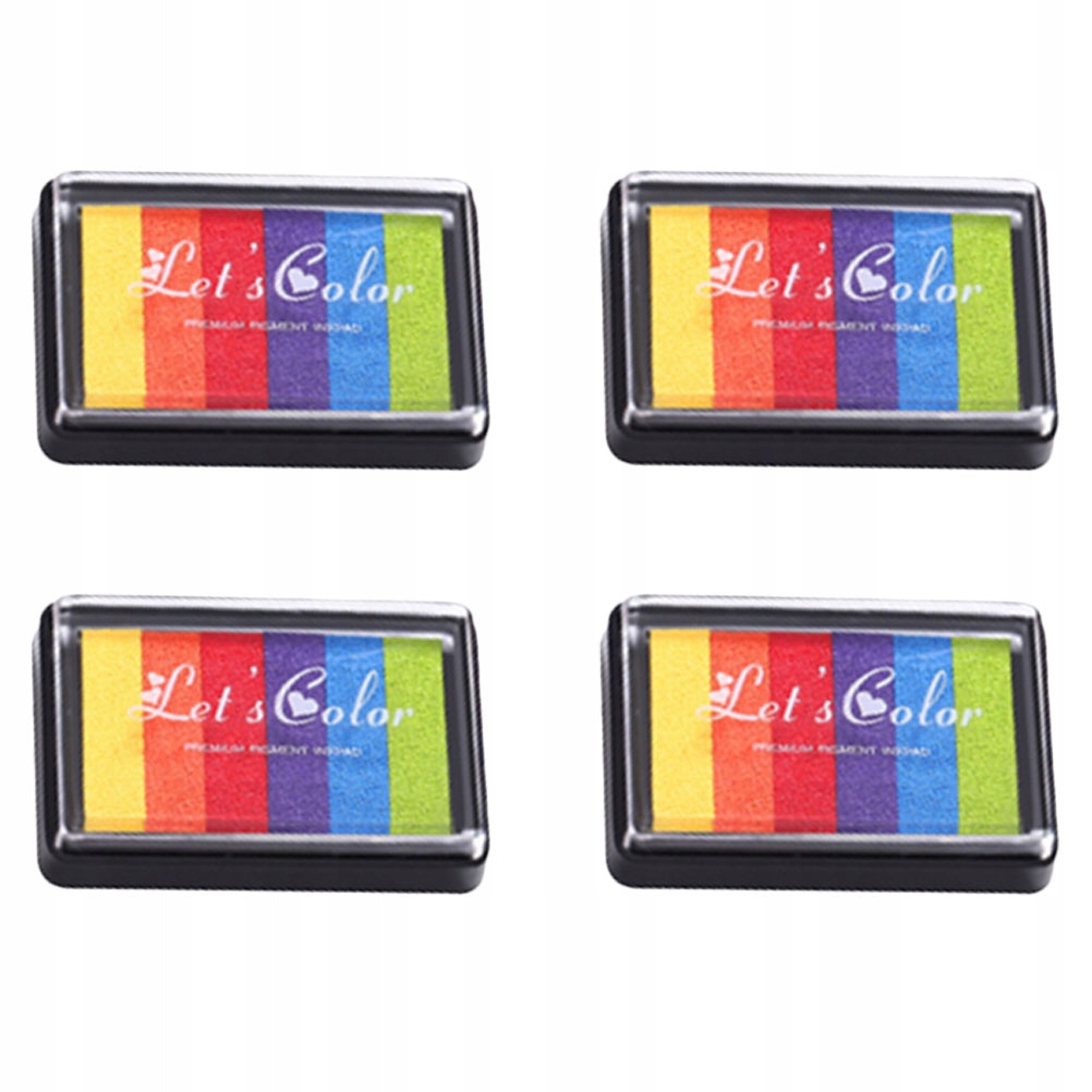 4 szt. Rainbow Color Craft Ink Pad Kolorowe Inkpad