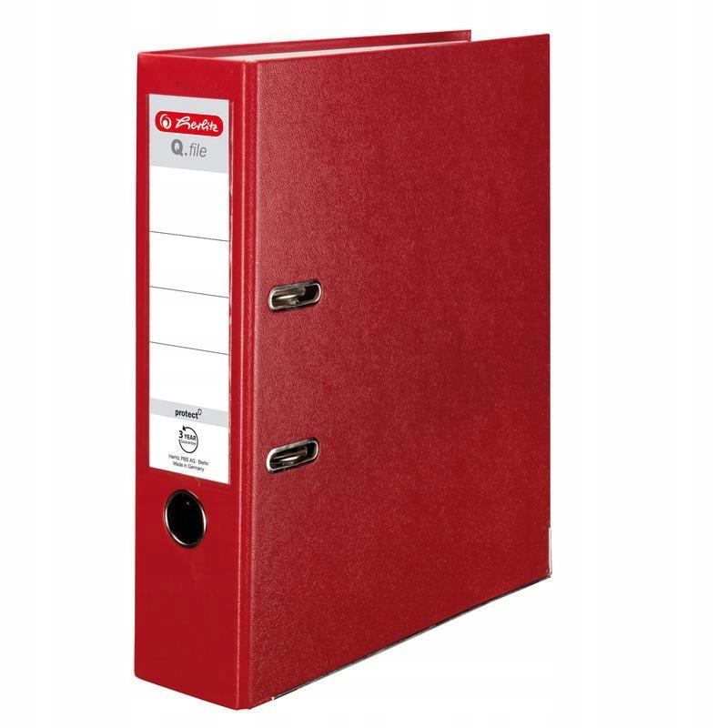 Segregator A4 8cm PP czerwony Q file