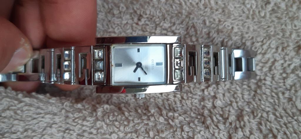 Zegarek damski guess, srebrny 18mm