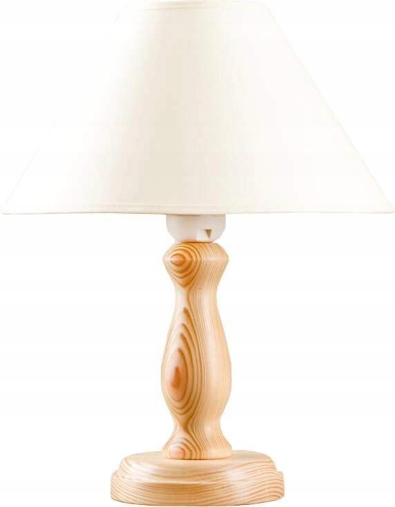 Lampka biurkowa Lura biała drewno