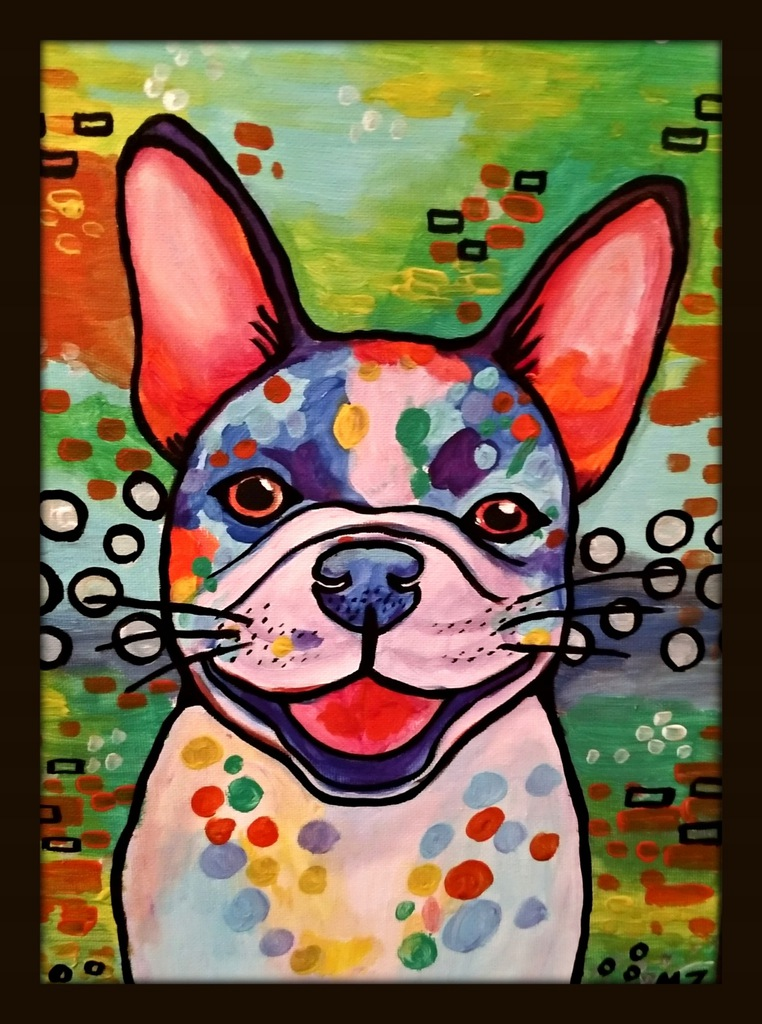 Obraz olejny Pies piesek III 25 x 35cm