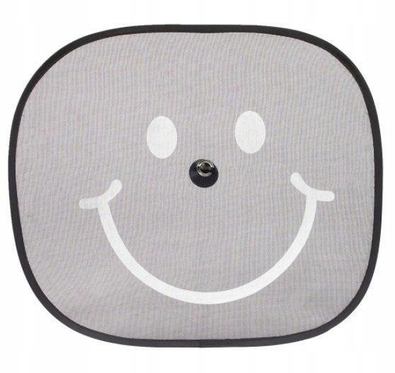 Osłona przeciwsłoneczna 2 szt uśmiech przyzsawka