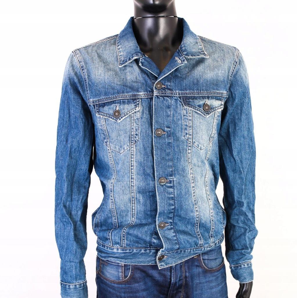 Kurtka męska jeansowa jasnoszara TX3170