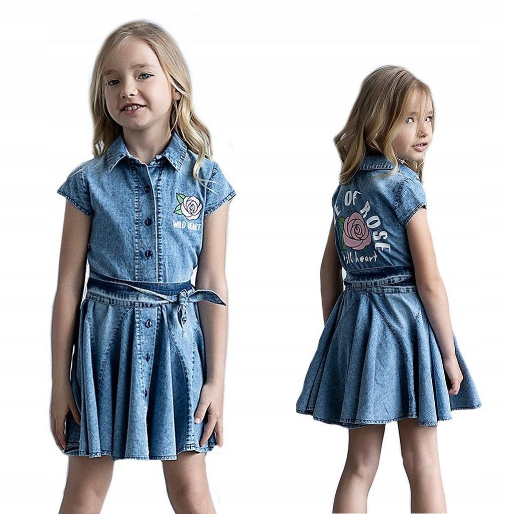 Sukienka jeansowa dziewczęca ALL FOR KIDS 104-110