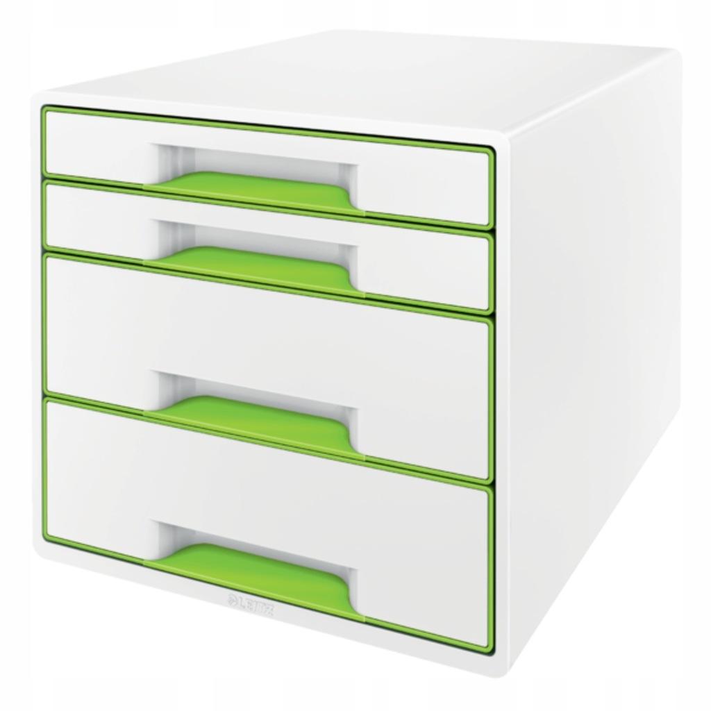 Pojemnik z szufladami Leitz WOW Cube zielony