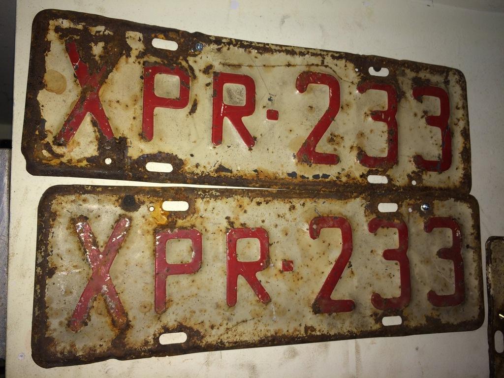 Zabytkowe Stare Tablice Rejestracyjne Probne 7034279970 Oficjalne Archiwum Allegro