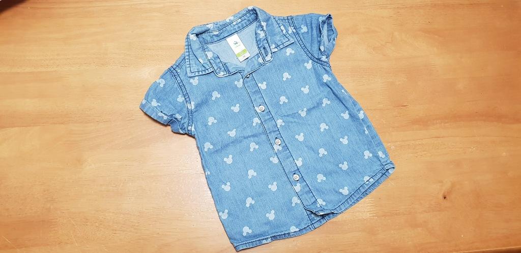 Koszula Disney C&A Minnie Mickey 74 cm