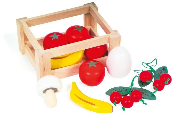 Skrzyneczka z owocami drewnianymi 7122
