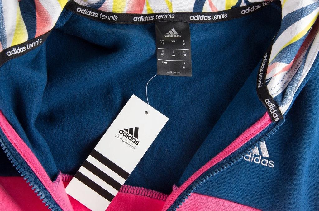 bluza rozpinana kolorowe rekawy adidas damska