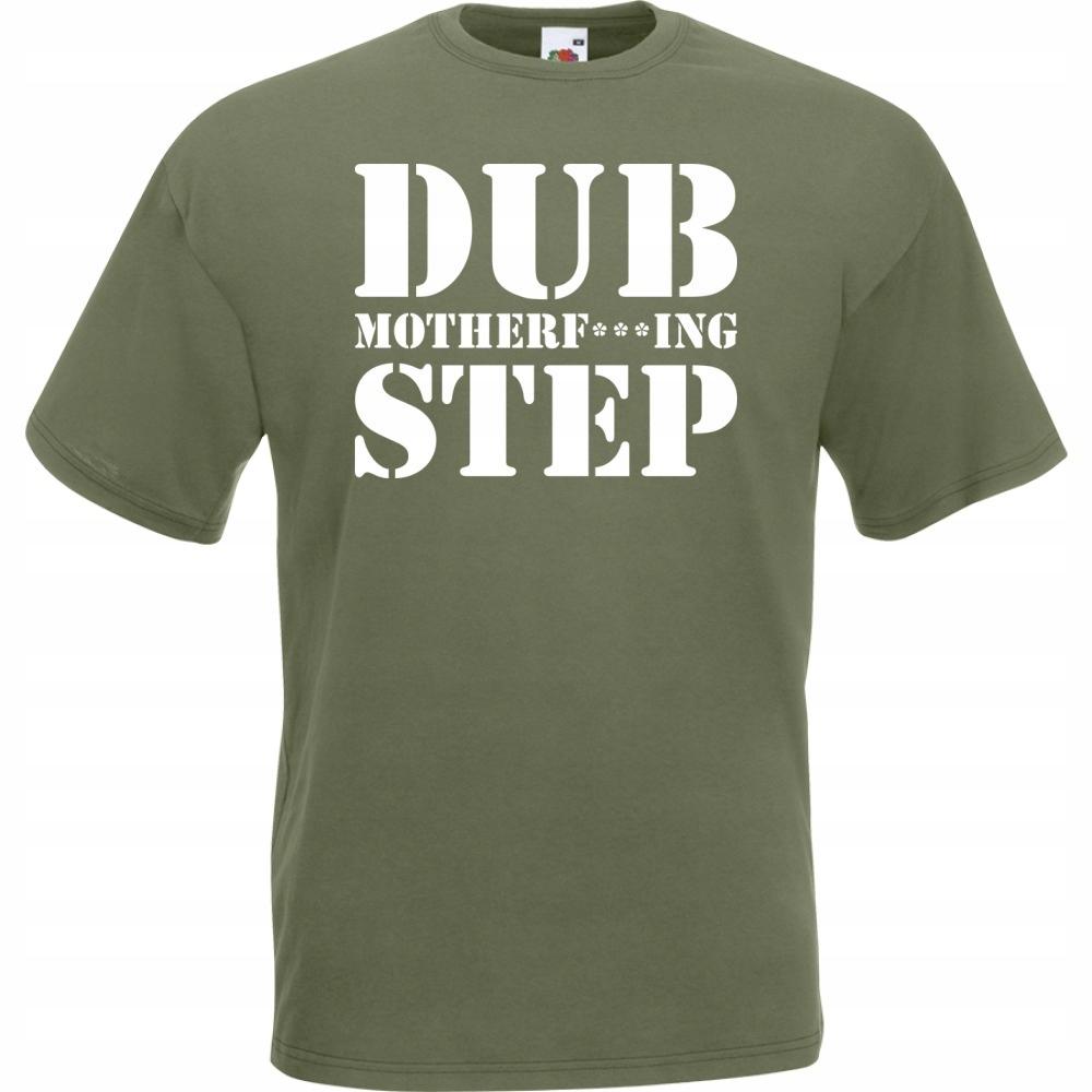 Koszulka z nadrukiem dubstep dub XL oliwkowa