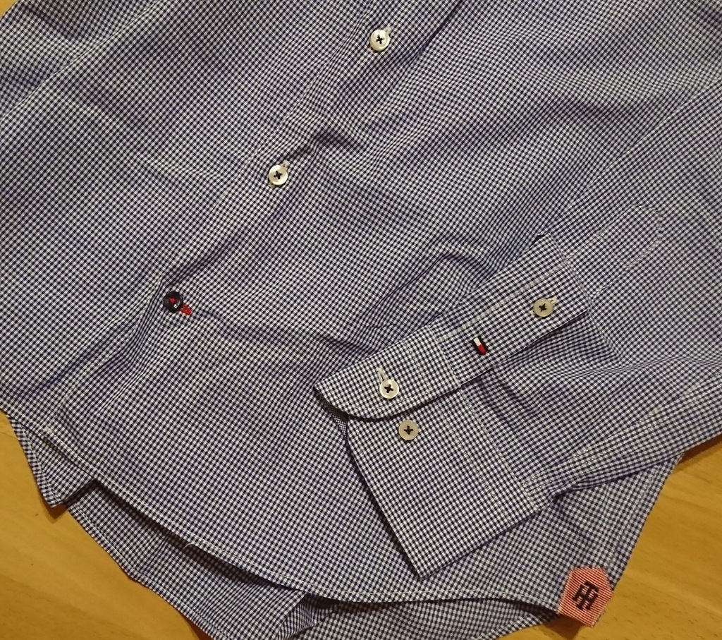 Koszula Tommy Hilfiger roz L w kratkę granatowa