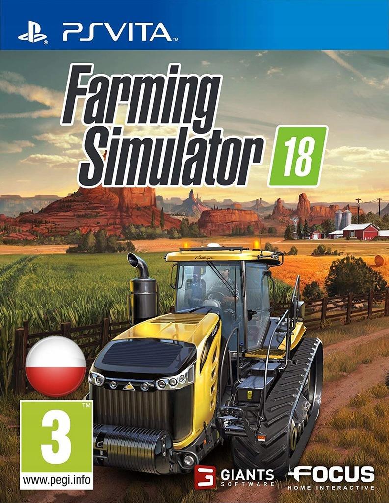 FARMING SIMULATOR 18 PSV PO POLSKU NOWA PS VITA
