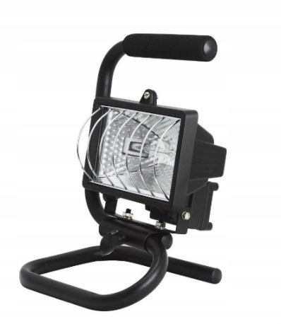 Reflektory halogenowe BRICK IP44 500W statyw raczk