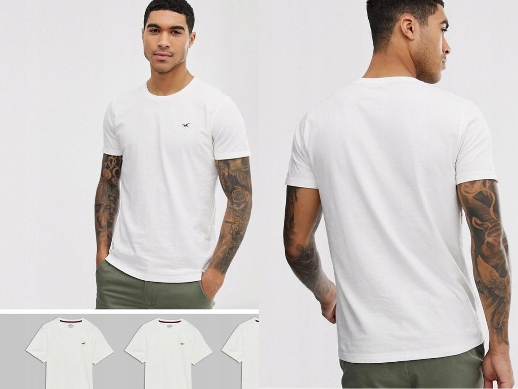 Zestaw 2 białych t-shirtów z okrągłym dekoltem L