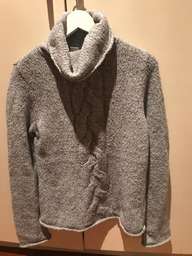 Sweter ciepły szary damski golf New Look M od 1 zł