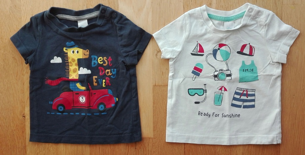 T-shirty chłopięce C&A 74 2 szt.