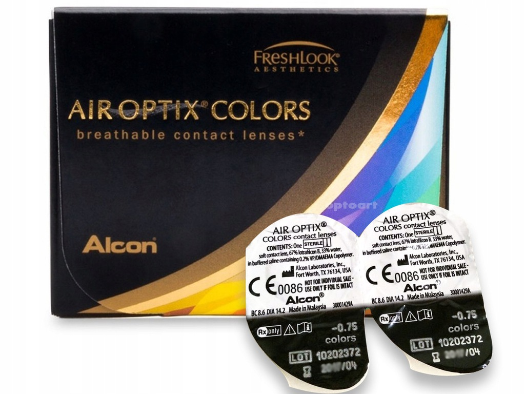 Air Optix Colors SOCZEWKI KOLOROWE 2 szt -1,50