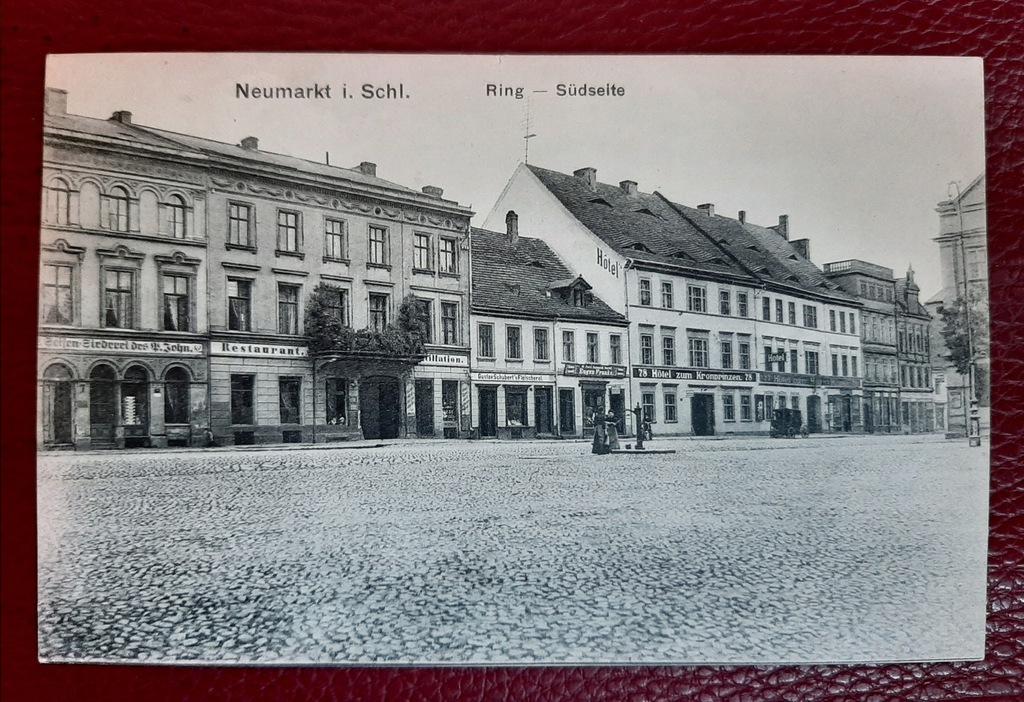Pocztówka Neumarkt i. Schl.-Środa Śląska 1908 rok