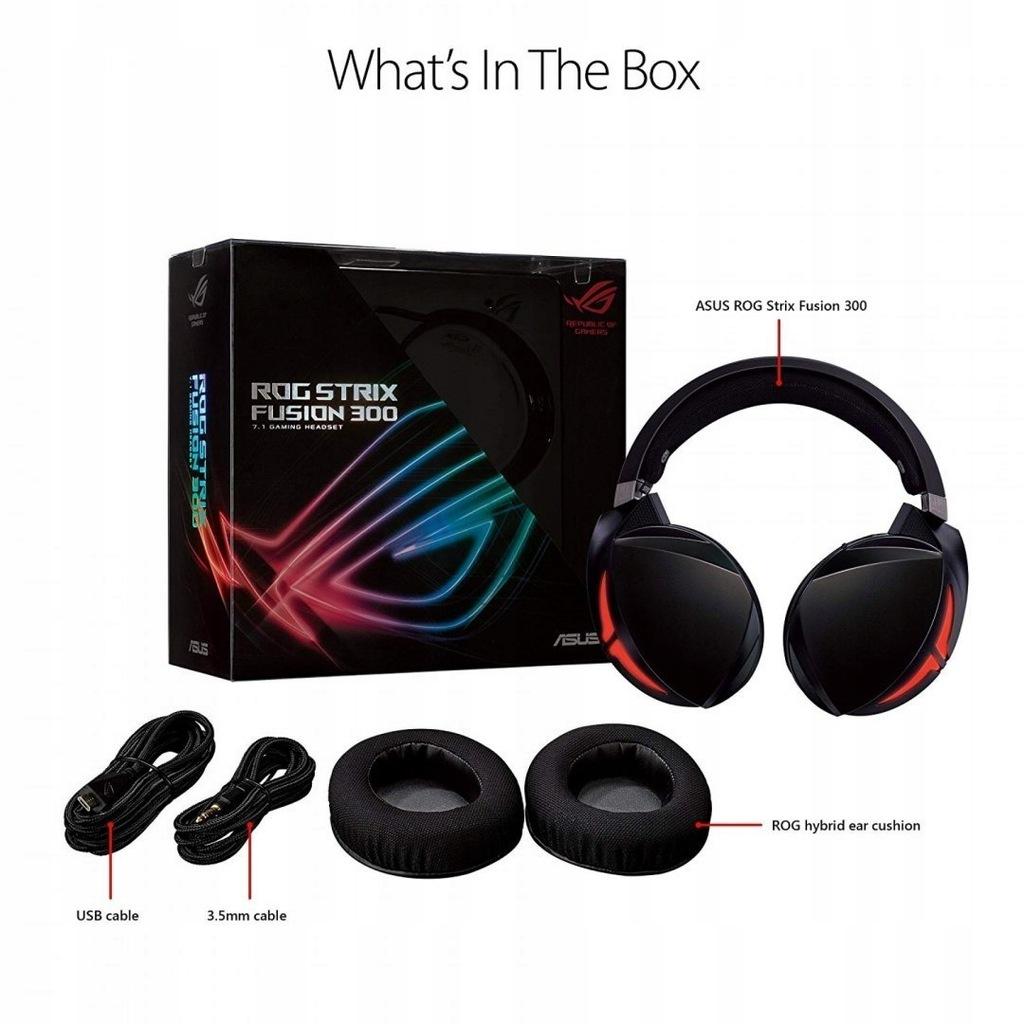 Asus Headset ROG STRIX FUSION 300 USB; 3.5 mm