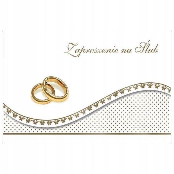 Zaproszenie na Ślub Ś14 +koperta